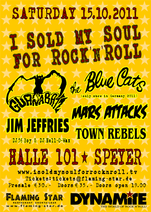 I Sold My Soul For Rock 'n' Roll Festival 2011
